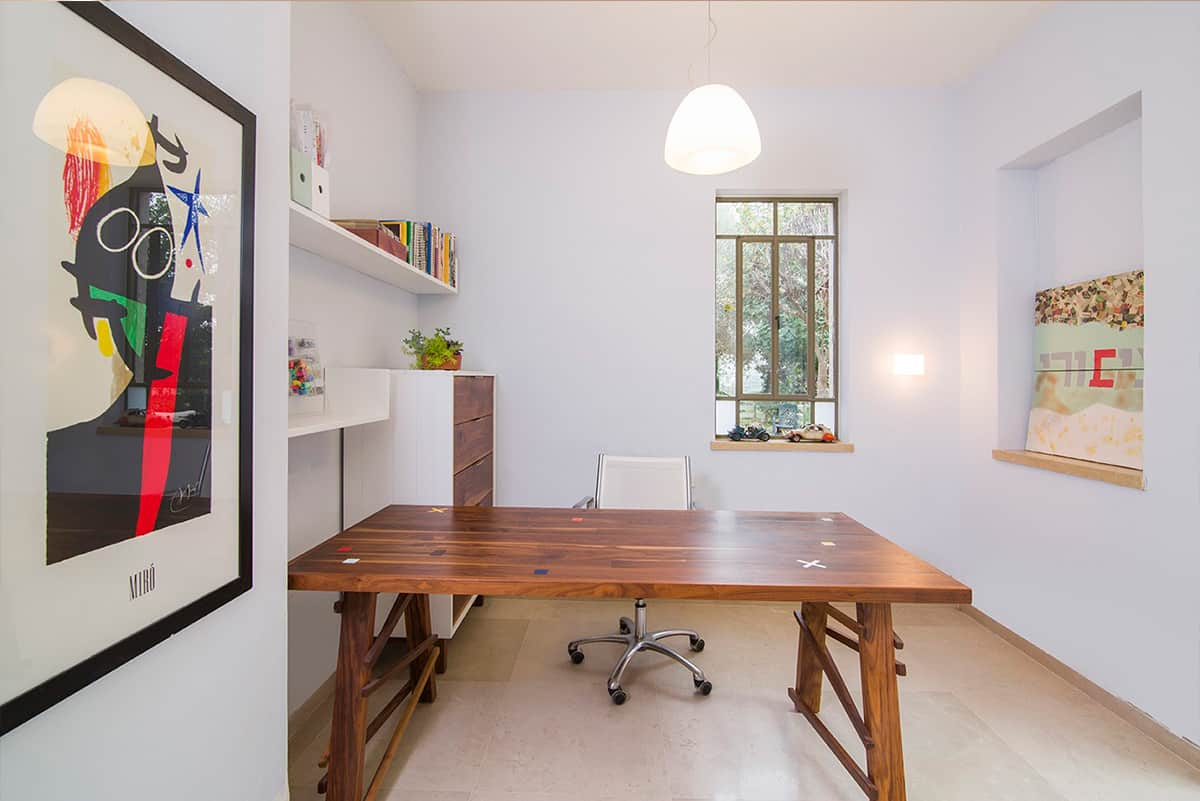 חדר עבודה בבית פרט בעמק חפר - מעצבת פנים, שירית דרמן