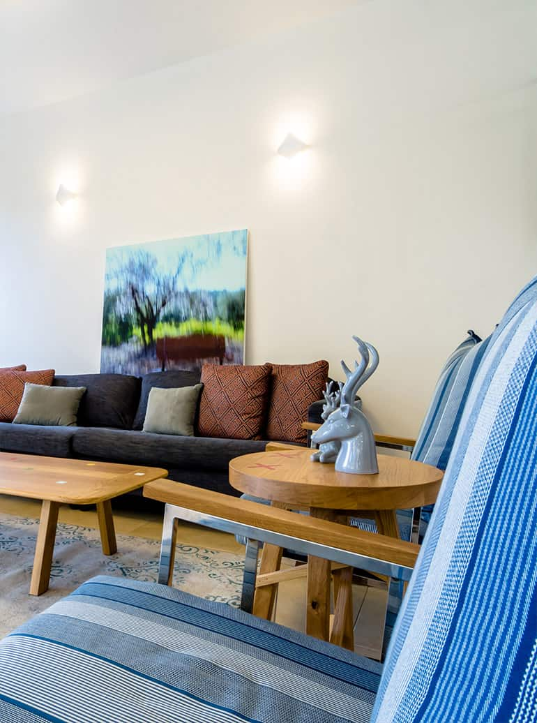 רהיטים בהזמנה אישית בסלון בית פרטי באבן יהודה - שירית דרמן מעצבת פנים ויועצת תאורה