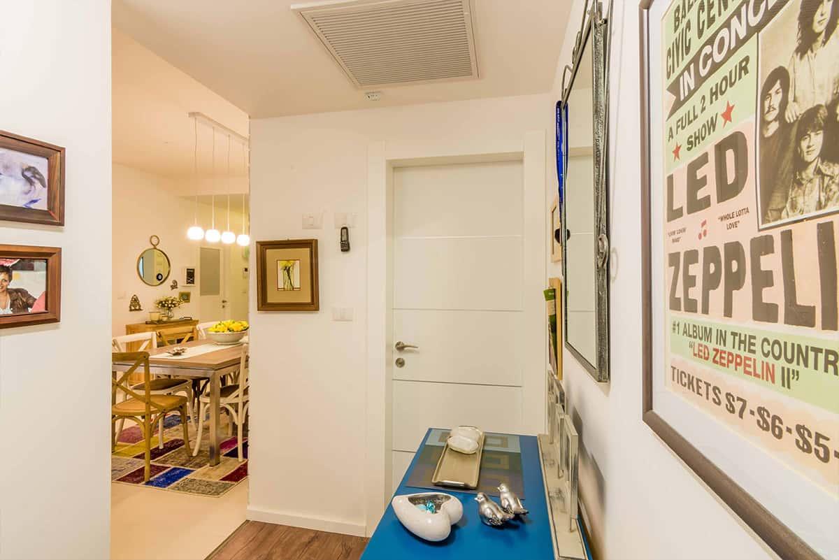מסדרון בדירה בעיר ימים - עיצוב פנים ותכנון תאורה, שירית דרמן