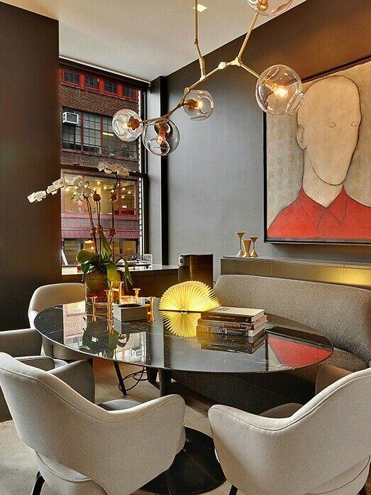 פינת אוכל עשויה שיש דק ומבריק - חדר משלך, בלוג עיצוב פנים של שירית דרמן